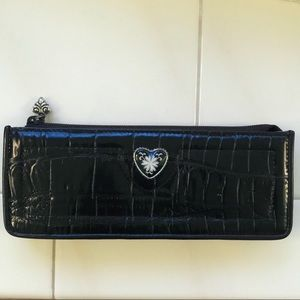 Brighton black croc embossed eye glass/pencil case